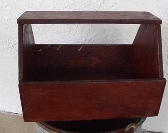 Table centerpiece,  Primitive Wooden Caddy,Rustic Wooden Storage Box,Art box
