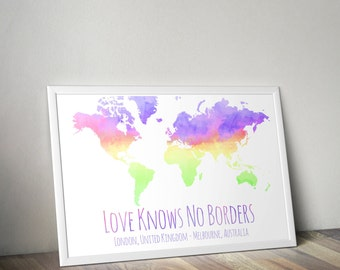 Love Knows No Borders Customisable Print poster wall art