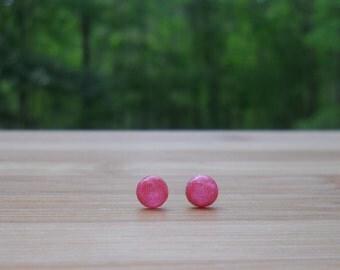 Mini Rose Sparkle Galaxy Dot Earrings