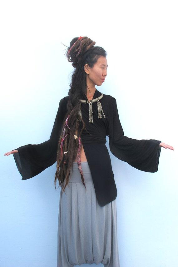 Boho Kimono Black Kimono Cardigan Japanese Kimono