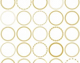 25 Gold Circle Frames, Circle Frame Clip Art, Round Frame Clip Art, Digital Clipart, Circle Frames, Frames Clipart, Circle Labels