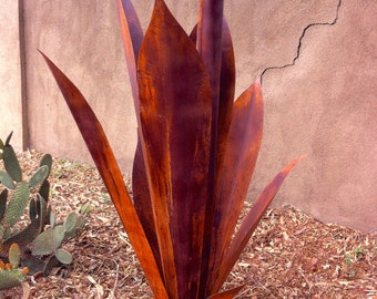 Massive Agave Ready for Tequila, Metal Yard Art,Metal Garden Sculpture, Metal Cactus, Metal Agave, Garden Decor, Southwestern