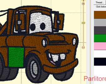 Tow Mater Digital Embroidery Design - Embroidery Designs INSTANT DOWNLOAD ~ 4x4, 5x7, and 6x10 Sizes