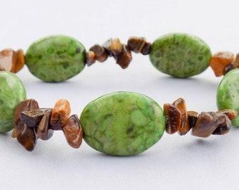Handmade Tigereye & Gemstone Bracelet. Kuauitl Bracelet