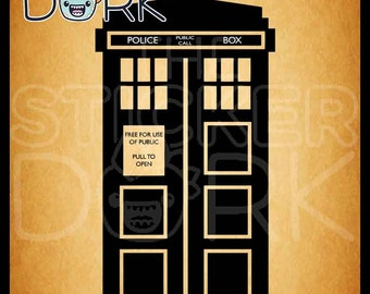 Tardis Wall Decal from Doctor Who