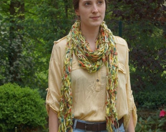 Long scarf multicolor