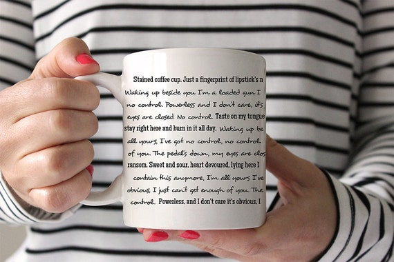 Coffee Mug No Control Song Lyrics Mug - One Direction