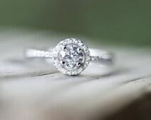 Unique cz wedding rings