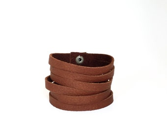 Leather Cuff Bracelet for Women // Brown Leather Bracelet // Brown Leather Cuff
