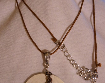 Seahorse and sand dollar nautical necklace