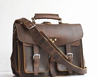 Wing Handmade Mens Leather Briefcase Men Leather Backpack Mens Leather Bag Men Leather Satchel Mens Leather Messenger Bag Men MacBook Bag