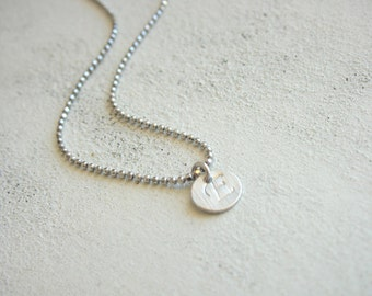 INITIAL NECKLACE - sterling silver
