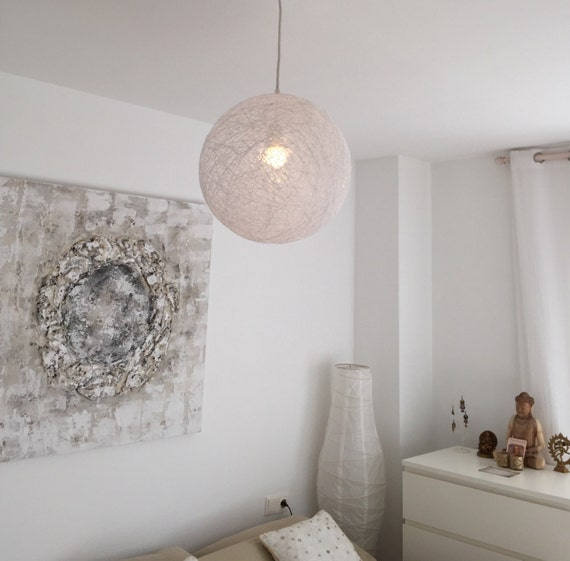 Sphere white modern pendant light sphere by geometrikdesign
