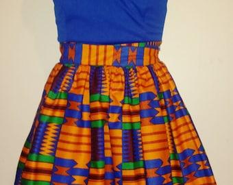Kente African Print Skirt