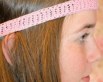 Crochet Pink Headband
