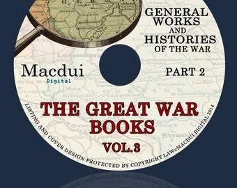 The Great War books Volume 3 Part 2, Nations engaged in the war 139 PDF EBooks on 1 DVD