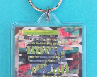 Collage Art Keychain by Parallel Attractions