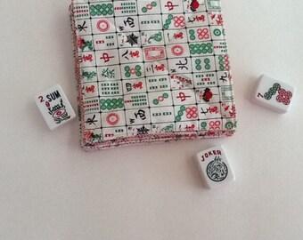 Mah Jongg Quilted Fabric Coasters, Mah Jong Coasters, Novelty Mah Jongg Coasters, Mah Jongg Gift, Mah Jongg Fun, MahJong, Mah Jongg Game