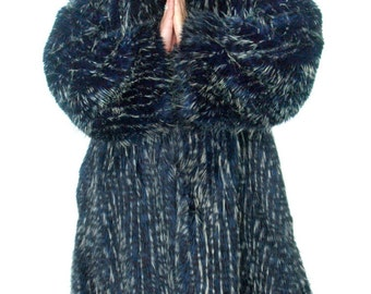 Faux Fur PLAYA TRIM Coat, lined Men's Reversible Festival Jacket Pimp Goth Steampunk BURNINGMAN style Playacoat Playawear Playafur Luxury