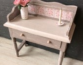 Dolls House Miniature Shabby Grey Side Wash Stand Table