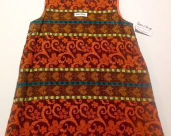 Handmade Cotton Jacquard Dress - Size 5