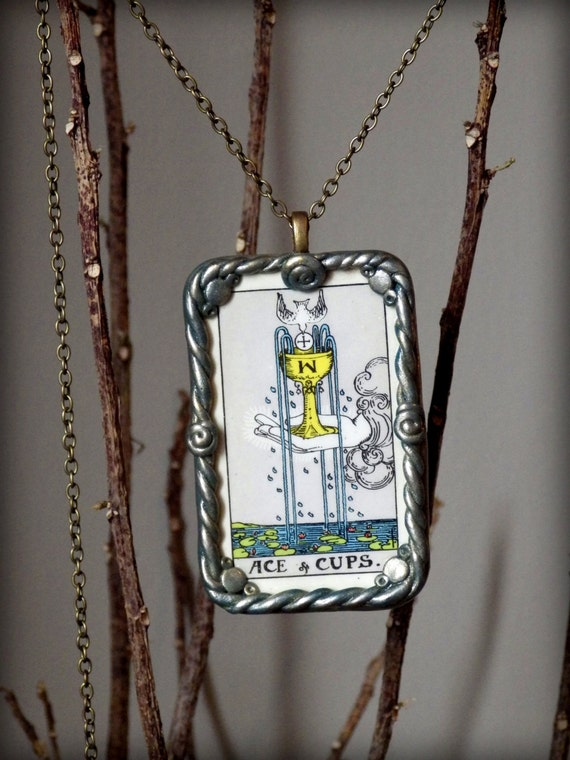 Tarot Card Necklace Authentic Rider Waite By
