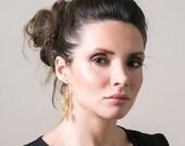 Volume gold wire crochet earrings -  infinity earrings -  elegant swirl knitted gold earrings glamorous jewellery long dangle earrings