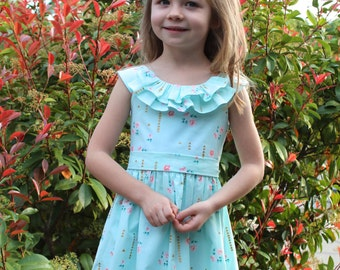 GIRLS DRESS PATTERN, automatic download, beautiful summer dress, perfect for a flower girl, includes photo tutorial, The Emma Rose Dress