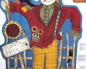 Scarecrow Row--Wall Quilt---KIT---By Leslie Beck--For Fall--Autumn--Pumpkins--Sunflowers
