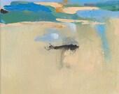 Beach Landscape Painting, Abstract Landscape, Coastal Decor, Beach Decor, Coastal Wall Art, Ocean, Seaside, Shore, Cape Cod, Cottage Decor