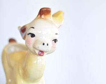 Vintage Ceramic Donkey Vase / Mid-Century Planter / Housewares / Home Decor / Kitsch home