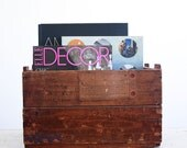 Rustic Wood Shipping Crate / Urban Farmhouse / 1940's Industrial Decor