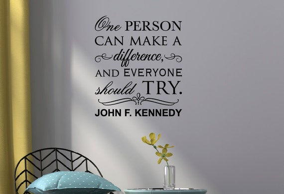 Items similar to one person wall decal motivational wall for Inspirational items for office