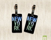Printed Personalized Luggage Tags New York City Statue Of Liberty Travler Luggage Tag Set Personalized Luggage Tags - Full Metal Tags