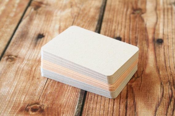 500pc Wild Animal Fibre POO Business Card Blanks