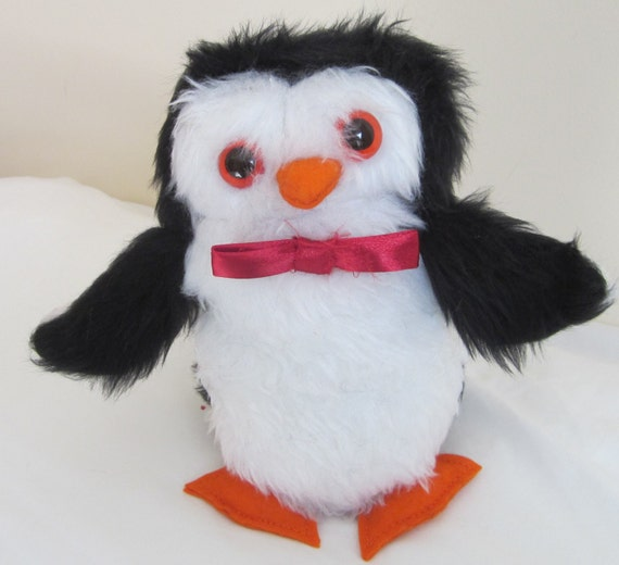 Percy Penguin Stuffed Toy, Black and White Cuddly, Shower Basket Item, Cool Tots Toy, Toddler Toy, Cool Tots Present, Toddler Special Gift.
