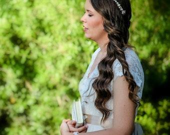 WEDDING PEARL CROWN, wedding pearl headband, bridal pearl headband, bridal pearl tiara, bridal hair tiara, wedding hair tiara, tiara bride