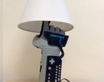 Nintendo NES Power Glove Very Rare Desk Lamp Light Sculpture, Wearable, Poseable