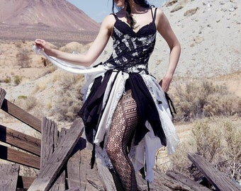 Fairy Dress - Vintage noir et robe blanche