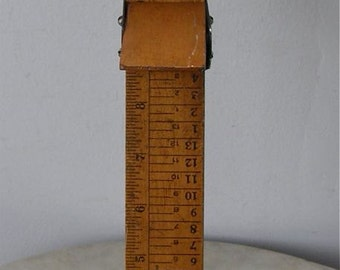 WOODEN FOOT MEASURE Made by Ritz  Adult Size 1-15 Children's Size 1-12 Scale + Directions on Back Great Patina America 1940's Shoe Store
