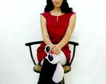 Micro Mini Dress - 1960s Style - Mini Dress - Reversible