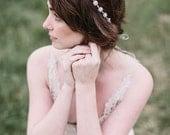 Crystal tie on bridal headband, Silver Crystal Headband, Rhinestone Bridal Headpiece, Wedding Halo, Tiara, READY to SHIP, bridal accessories