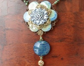 Buttoned Up Statement Necklace