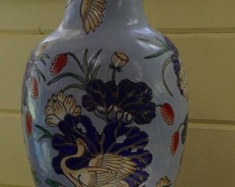 Vintage Macau Heron Vase