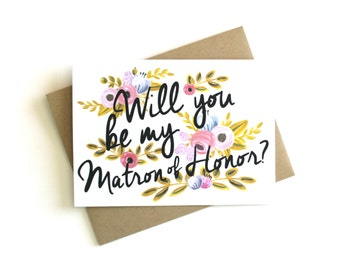 Matron of Honor Card - Will You Be My Matron of Honor, Matron of Honor Cards, Matron of Honor Gift, Be My Matron of Honor Card