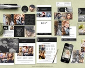 Senior Marketing Template Package, Welcome Guide, Luxe Modern Marketing Templates for Photographers, Branding Package, Photoshop Templates