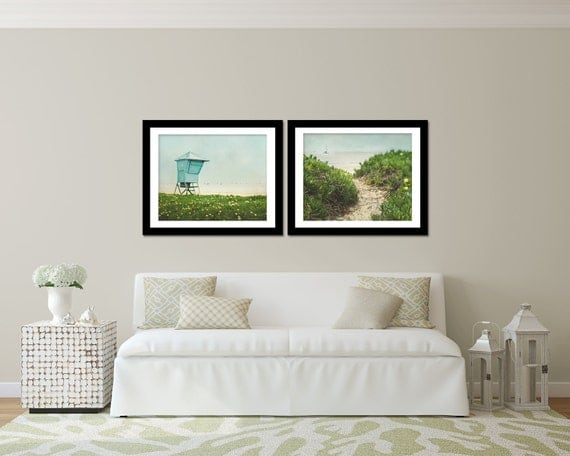 Santa Barbara Wall Art Set Two Picture Set Beach