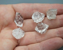 Fenster Crystals x5, Raw Clear Quartz DT, High Grade, Herkimer Energy, Jewelry, Jewellery Supply, Crystal Gridding - 9.4g/15-18mm (8-333)
