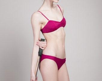 SALE: pink bikini top size XS/S with bottom M/L