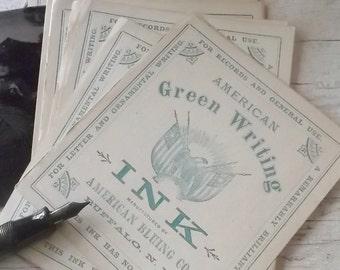 Antique Label, Authentic, Ephemera, 1800s, Victorian, Bottle Labels, Writing Ink, Fountain Pen, Scrapbooking, NOS, Supplies, Props, Tags